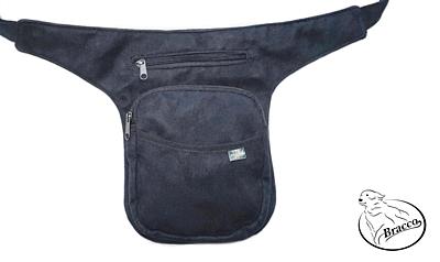 Bracco Bokovka, taška kolem pasu, nebo ramen - tyrkys, konopný lístek