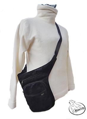 Bracco Bokovka, taška kolem pasu, nebo ramen - růžová, SINUS tlapka a srdce
