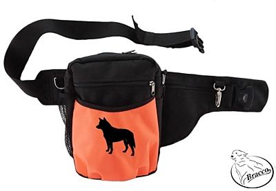 Bracco výcvikový opasek Multi, černá/oranžová Australian Cattle Dog