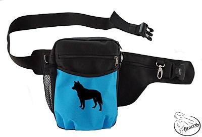 Bracco výcvikový opasek Multi, černá/modrá Australian Cattle Dog
