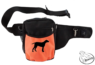 Bracco Trainingsgürtel Hund Multi, schwarz/orange Brandlbracke