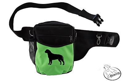 Bracco Trainingsgürtel Hund Multi, schwarz/ grün Bullmastiff