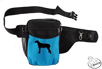 Bracco výcvikový opasek Multi, černá/modrá Irish Wolfhound
