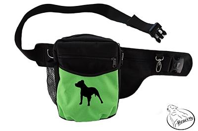 Bracco výcvikový opasek Multi, černá/zelená Pit Bull Terrier