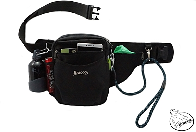 Bracco dog training belt Multi, black/orange Akita Inu