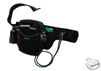 Bracco dog training belt Multi, black Flat Coated Retriever