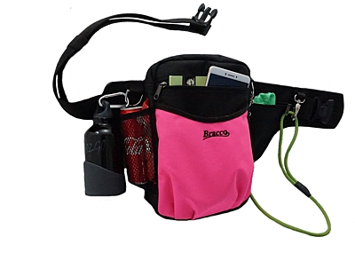 Bracco dog training belt Multi, black/pink