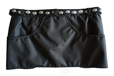 Bracco training skirt Dogsport black- paws black, different sizes.