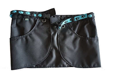Bracco training skirt Dogsport black- paws turquoise, different sizes.