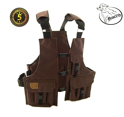 Bracco Dummy Vest Profi Comfort brown polyamide, various sizes.
