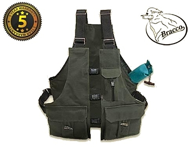 Bracco Dummy Vest Profi khaki cotton, various sizes.