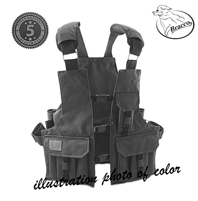 Bracco Dummy Vest Profi Comfort black polyamide, various sizes.