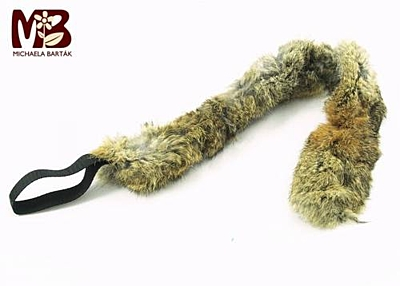 Bracco tugger for dog from a genuine fur, different lengths