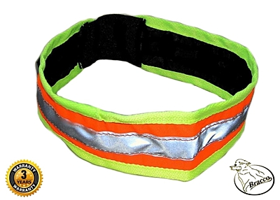 Bracco Reflective Collar Band with rubber- orange, different sizes.
