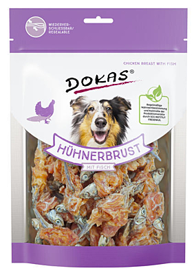 Dokas - Rybičky obalené kuřecím masem 220 g