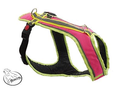 BRACCO Hundegeschirr ACTIVE, neon rosa - verschiedene Größen.