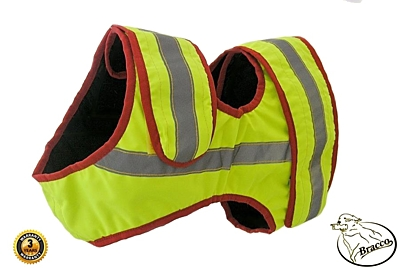 Bracco signal vest for hunting dog, yellow- different sizes