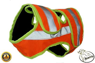 Bracco signal vest for hunting dog, orange- different sizes