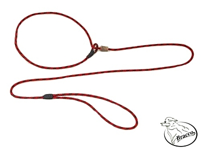 Bracco moxon dog leash 6.0 mm/ 100 cm - different colors.