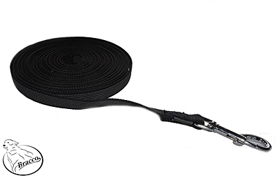 Bracco check cords with anti-slip, different lengths and types, black.