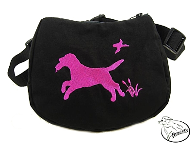 Bracco exhibition Waist Bag, size L- various embroidery dogs.
