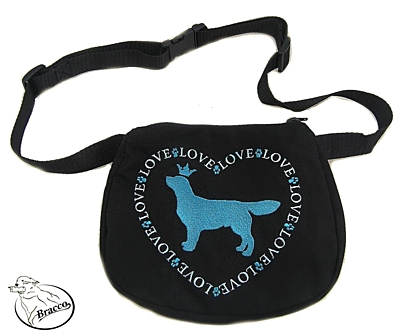 Bracco exhibition Waist bag, size M- various  emroidery dogs
